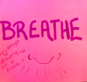 breathe- post it
